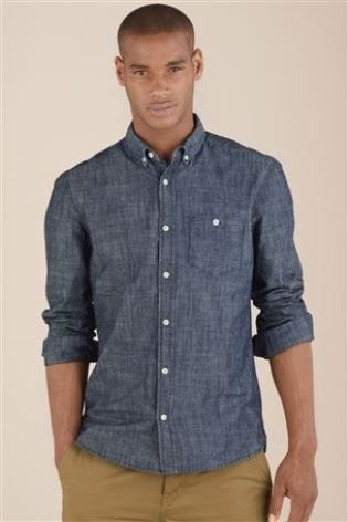 Buy Plain Chambray Shirt from the Next UK online shop