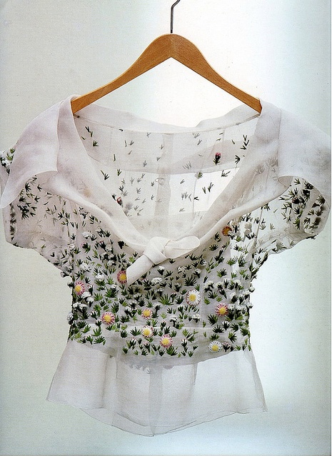 Blouse by Christian Dior, 1952, photo by Sacha Van Dorssen, 1987
