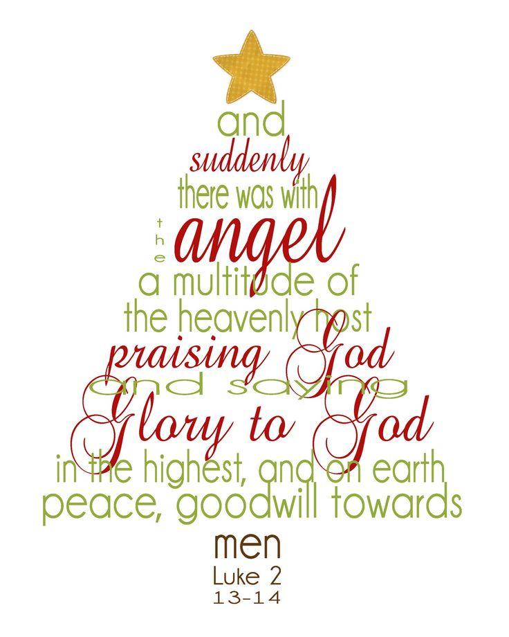 Simply Klassic Home: Christmas Scripture Word Tree Printable