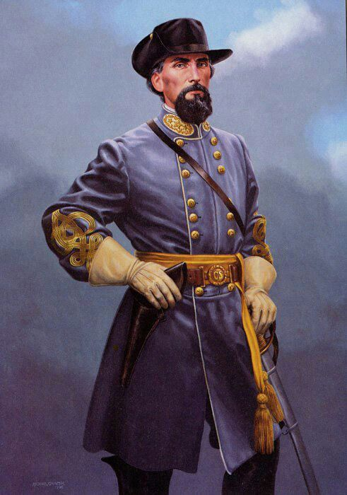 *GENERAL NATHAN BEDFORD FORREST Allegiance:Confederate States:Service/branch ConfederateArmy;Yrs service1861–1865 Rank:ConfederateStates of AmericaGeneral-collar.svgLt.General;Unit White's Company, TN Mounted Rifles; Commands held: 3rdTN Cavalry;Forrest's Cavalry Brigade;Forrest's CavalryDiv.; Forrest'sCavalryCorps;Battles/ wars: American Civil War; Fort Donelson; Shiloh; First Murfreesboro Chickamauga; Fort Pillow; Brice's Crossroads Tupelo; 2nd Memphis;3rd Murfreesboro Nashville; Wilson's…