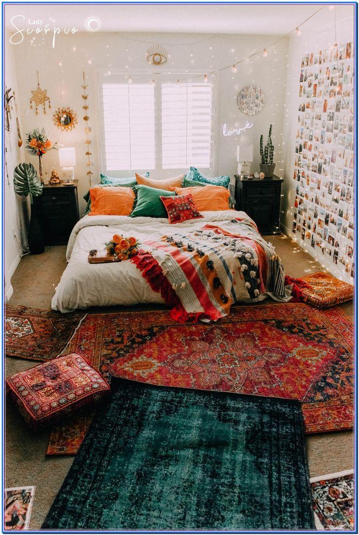 Eclectic Bedroom Bohemian Vintage Eclectic Bedroom Eclectic Bedroom Wall Decor Bedroom Bedroom Design