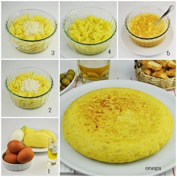Como cocinar Tortilla de patatas light al microondas. Recetas de Microondas. Únicamente 2 cucharadas soperas de aceite es lo que utilizo para hacer ...