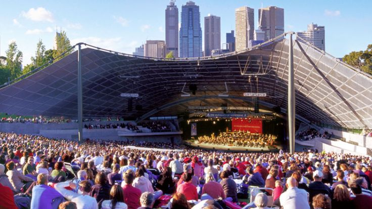 Sidney Myer Music Bowl, free mso concerts