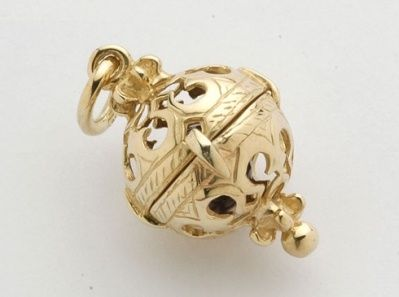 Pendant - ELABORATE TINKLE BALL - 9ct Gold