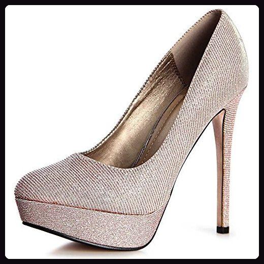 topschuhe24 1041 Damen Pumps Plateau Glitzer High Heels, Farbe:Light Pink;Größe:39 - Damen pumps (*Partner-Link)