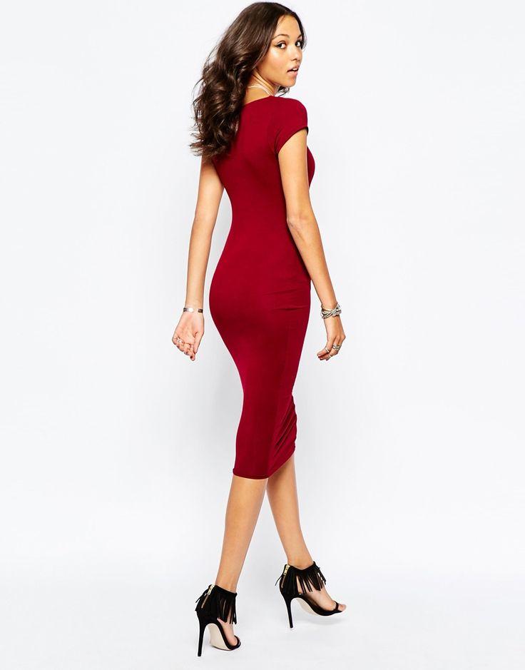 Image 2 ofBoohoo Bodycon Midi Dress