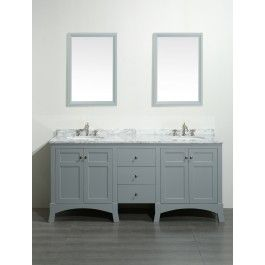 Exceptional Eviva EVVN514 72 New York 72 Inch Bathroom Vanity With White Marble Carrera  Countertop And