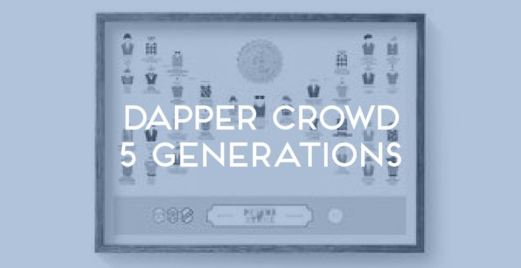 Dapper Crowd 5 Generations. The Family Tree Co ©
