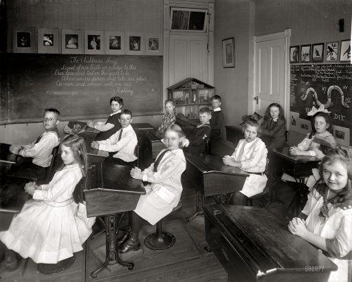 "Washington, D.C., circa 1910. ""Potomac School."" 8x10 inch dry plate glass negative, Harris & Ewing Collection."