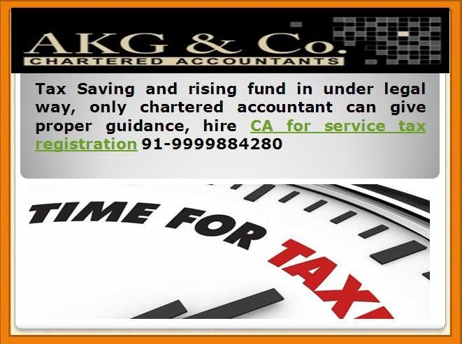 Ca for service tax registration beneficial for your business and development process. Contact ca for vat returns file 91-9999884280  http://charteredaccountantnewdelhi.com/companylaw.php