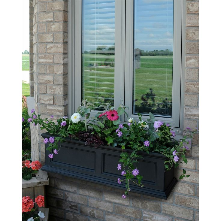 36 inch Window Box Planter in Black Polyethylene