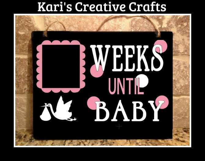 Baby Countdown, Baby Countdown Chalkboard, Pregnancy Countdown, Pregnancy Announcement, Mom To Be Gift, Chalkboard Sign, Chalk Art, Stork by KarisCreativeCrafts on Etsy