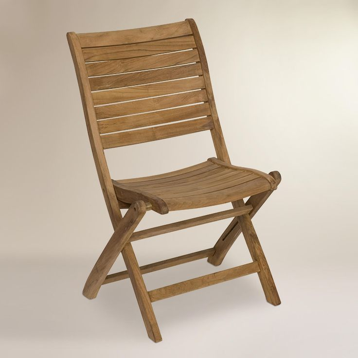 Tanjun Teak Outdoor Folding Side Chairs, Set of 2, $399, World Market. Paola McDonald says that outdoor folding chairs can work really well indoors, too. So to not overlook them.