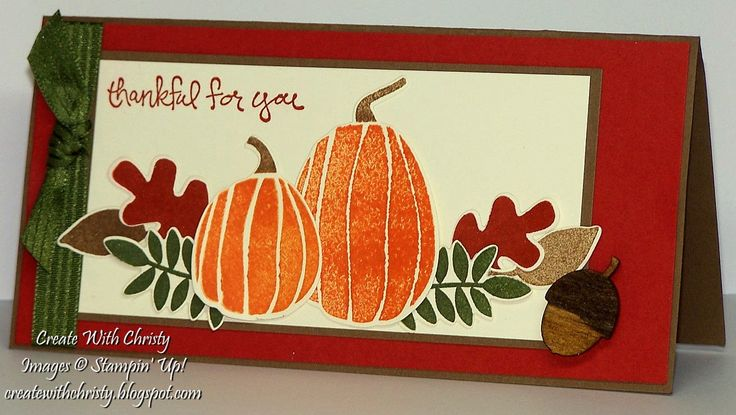 Stampin' Up! Fall Fest Card - CPC38 - Christy Fulk, Stampin' Up! Demo