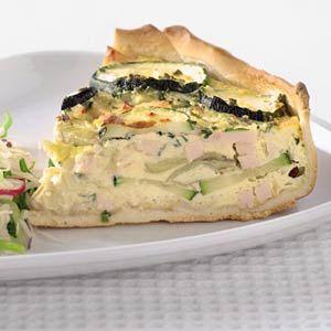 Recept - Hartige taart met gerookte kip en courgette - Allerhande