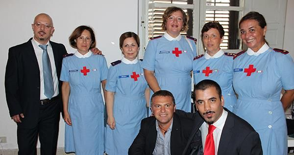 Ad Alcamo assieme al Corpo della Croce Rossa, Youssef Amraoui e Salvatore Cusumano