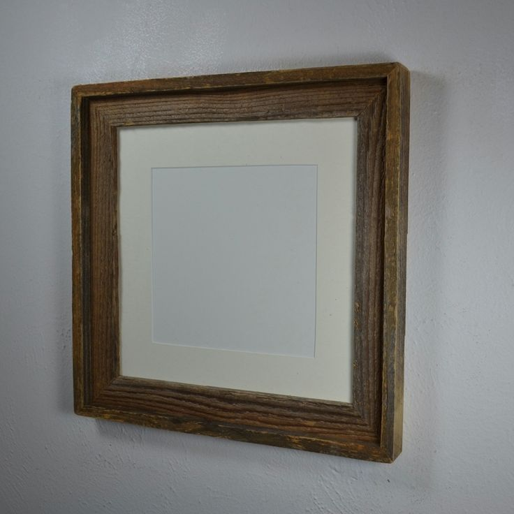 12x12 picture frame rustic style with mat for 8x8 or 10x110 handcrafted in the usa