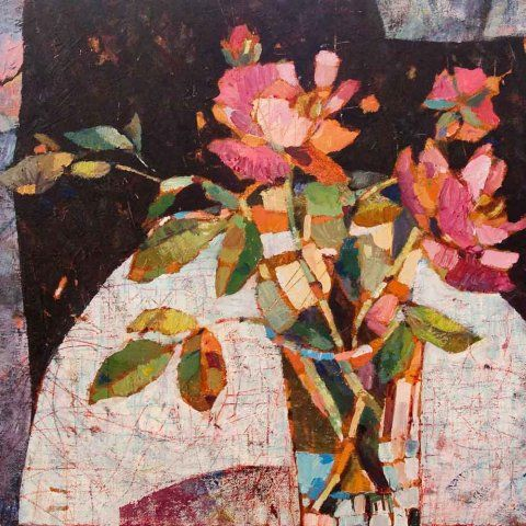 Roses by Sally Fitter #floral #botanical #art