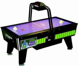 Jr. Power Hockey / Junior Power Hockey Coin Operated Air Hockey Table With Electronic Overhead Score And Light Bar By Great American Recreat...