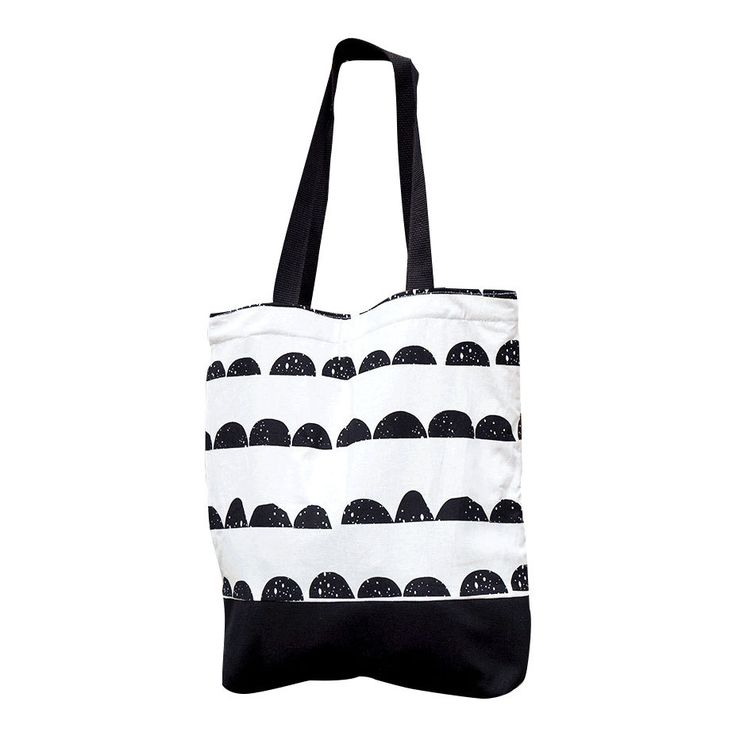 Black and White Half Moon pattern tote bag Black and White woman bag 100% Cotton fabric Nordic design Scandinavian style Free Shipping Bags and Purses women's bag women's tote bag Mother's day gift Women's accesories Geometric bag Black and white bag Free shipping Scandinavian bag stylish bag cute bag Black and white black and white tote 80.00 USD #goriani