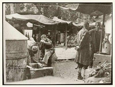 Υπαίθριος αγορά της Θεσσαλονίκης.1912
