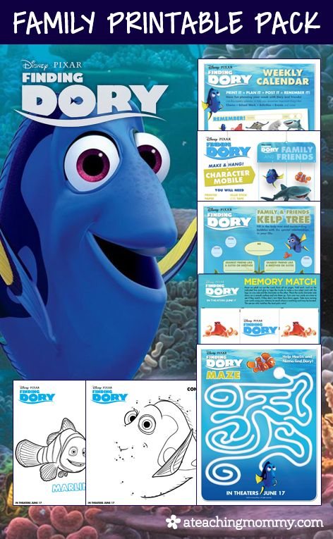 48 best images about dory nemo on pinterest party for Finding dory crafts for preschoolers