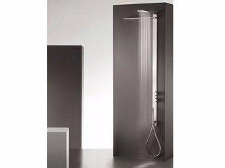 Coluna de duche de parede termostática de aço inox com cabeça de chuveiro MILANOSLIM WATERFALL - Fantini Rubinetti