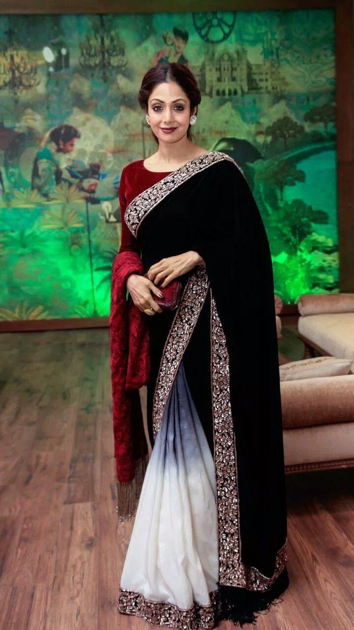 Pin by Bunny on Bollywood Celebrities | Velvet saree, Bollywood ...