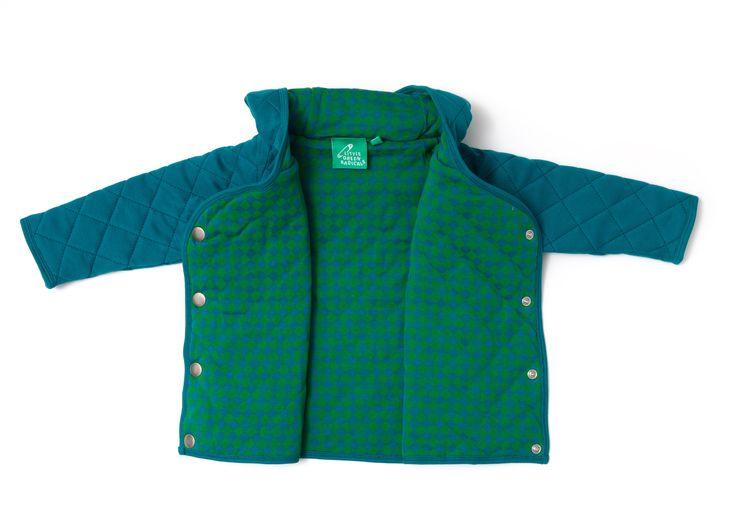 Little Green Radicals Quiltet jakke (Blå/Grøn) - forevereco.dk