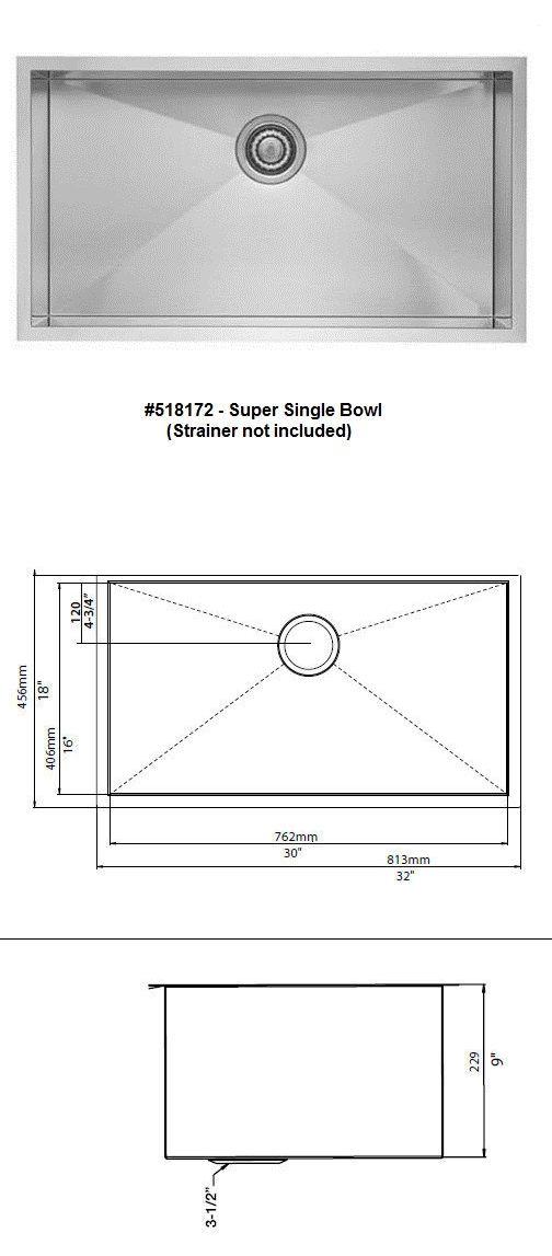 Sinks 71283: Blanco 518172 Quatrus Super Single Bowl Undermount Stainless Steel Sink -> BUY IT NOW ONLY: $323 on eBay!