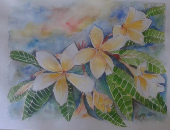 Magnolia watercolours