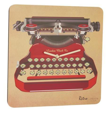 london-clock-company-retro-typewriter-wall-clock-30cm