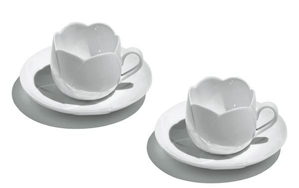 Alessi Collectables Teacups and Saucers Tulip by Dezso Ekler