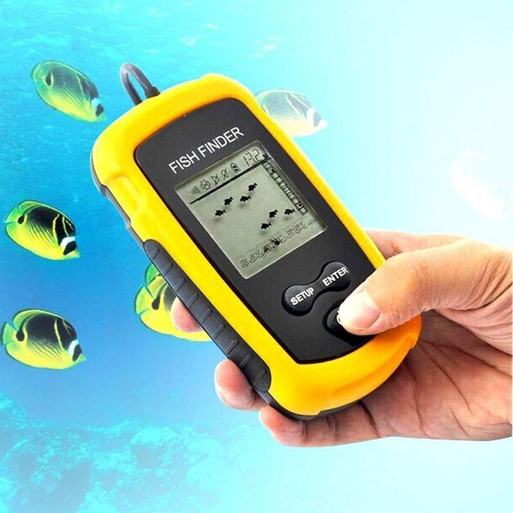 Hot Sale Portable Fishing Sonar Fish Finder 100m Fishing Tool Alarm Transducer Fishing Sonar Sensor 100M Depth Free Shipping