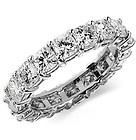 5.00 Ct. Cushion Cut Band White Diamond Eternity Ring