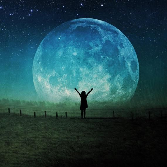 Full Super Moon Photo Blue Moon Surreal Landscape Fine Art Etsy Photography Prints Art Fine Art Landscape Photography Fine Art Photographs