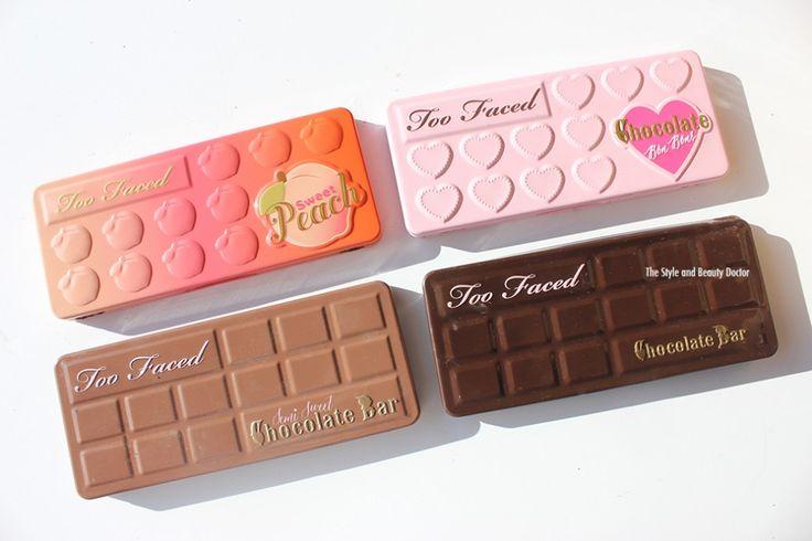 too faced sweet peach vs too faced chocolate bon bons vs too faced semi sweet…
