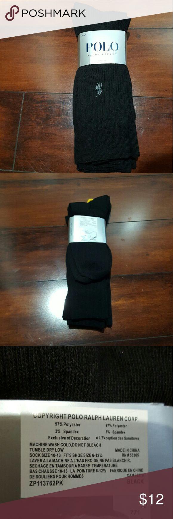 NWT Men's Ralph Lauren POLO trouser socks, 10-13 NWT Men's black 4 pack of Ralph Lauren POLO trouser socks. Fits size 10-13 Ralph Lauren Underwear & Socks Dress Socks