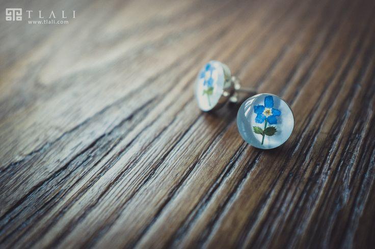Forget-Me-Not Jewelry: Flower Stud Earrings
