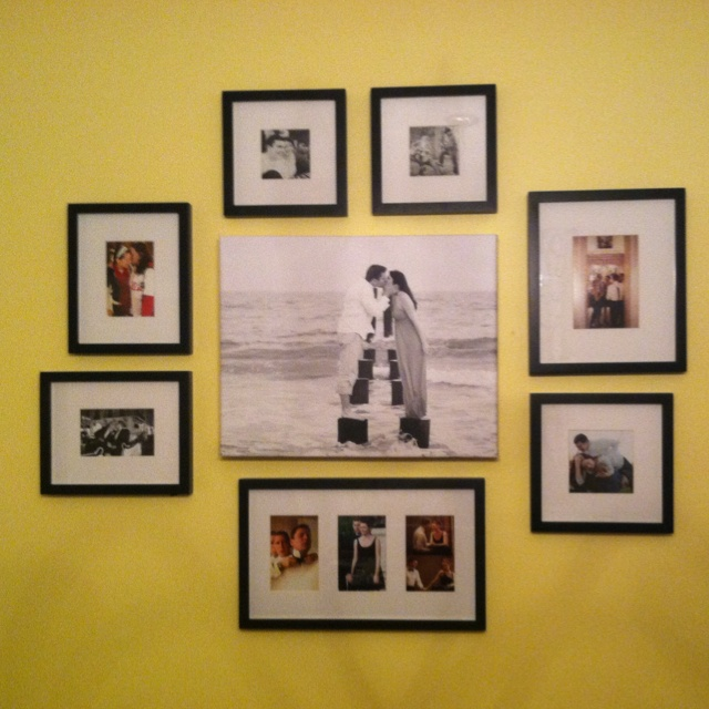 Picture wall with canvas centerpiece