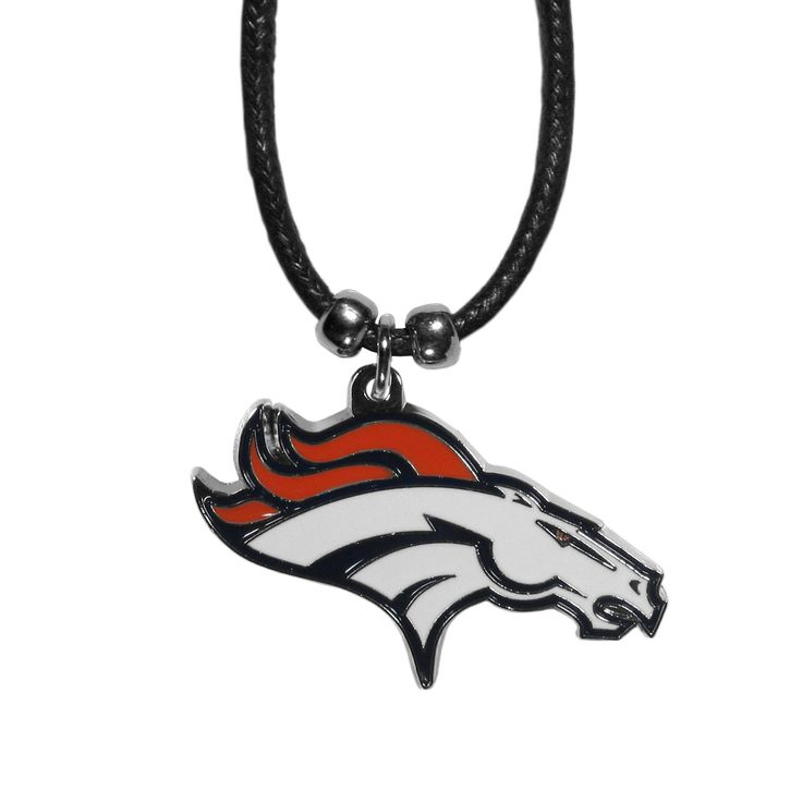 """Checkout our #LicensedGear products FREE SHIPPING + 10% OFF Coupon Code """"Official"""" Denver Broncos Cord Necklace - Officially licensed NFL product Licensee: Siskiyou Buckle 21 inch cotton cord necklace Beaded accents on the cord Extra large team pendant Perfect gift for a Denver Broncos fan - Price: $15.00. Buy now at https://officiallylicensedgear.com/denver-broncos-cord-necklace-fpcc020"""