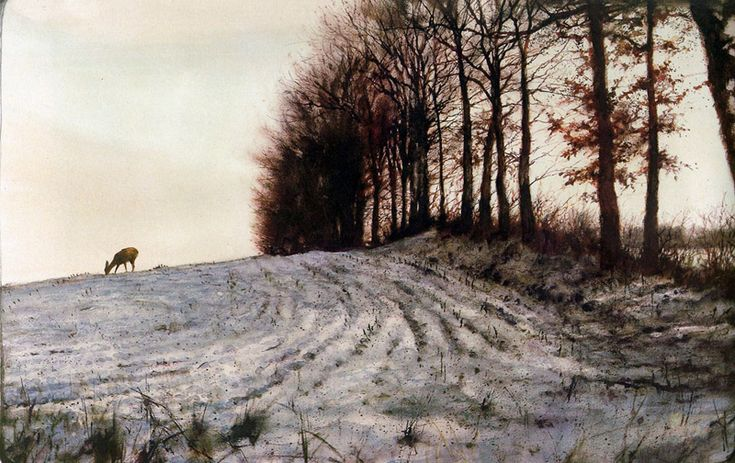 Rien Poortvliet is my favorite ilustrator. Do you not feel what temperature and what kind of weather it is in this painting.