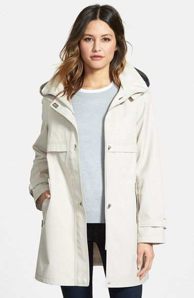Gallery Turnkey Raincoat with Detachable Hood | Nordstrom