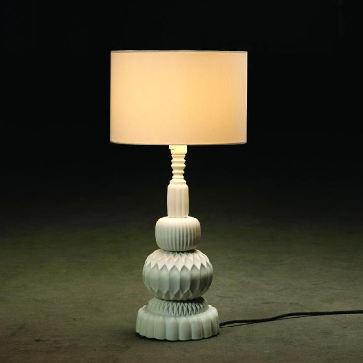 Bigfoot white table lamp
