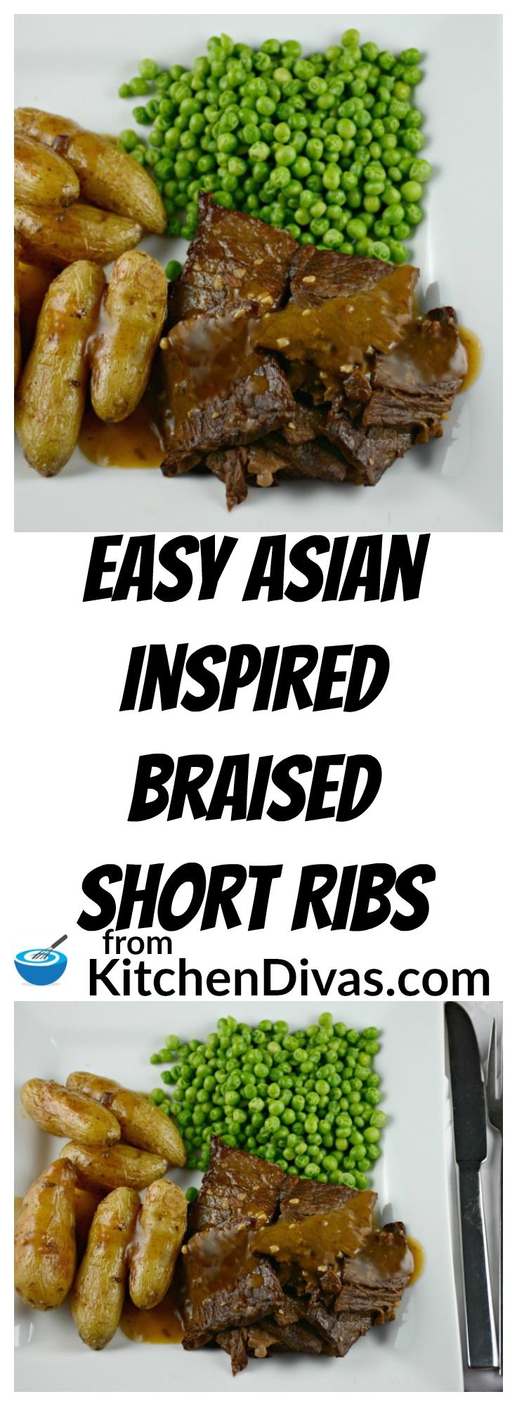 This recipe for Asian Inspired Braised Short Ribs produces the most tender and flavorful slices of slices of meat every time.  Whether you use bone in or boneless short ribs this recipe is a definite keeper.