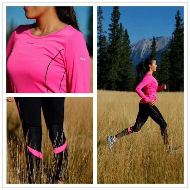 Ronhill Fall Collection,  Exclusive to Running Room!    Pictured: Vizion Long Sleeve, Vizion Contoured Tight