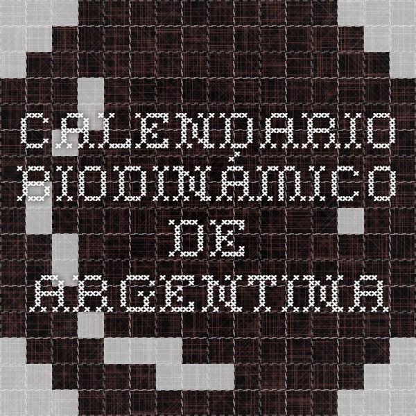 Calendario biodinámico de argentina