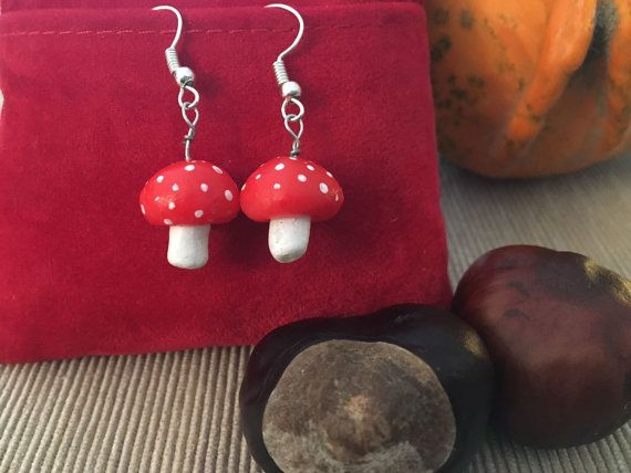 Little mushroom earrings