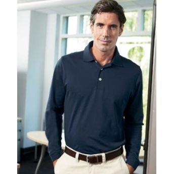 1352 #Ashworth Men's EZ-Tech Long-Sleeve #Polo Sport #Shirt. Buy at wholesale price.