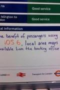 Quand le Métro Londonien se moque de l'application Plans d'iOS6…